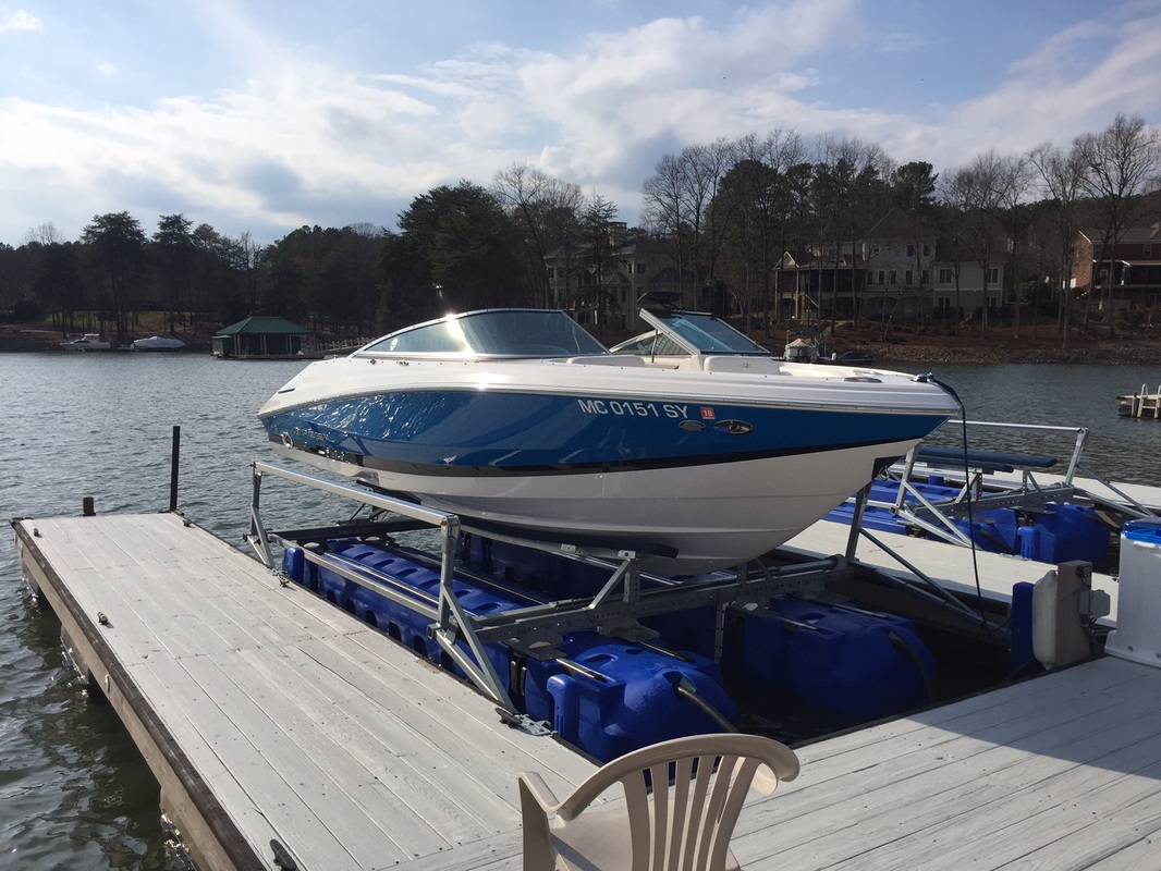 8800 Ultra setting under a 23' Regal - Lake Norman, NC