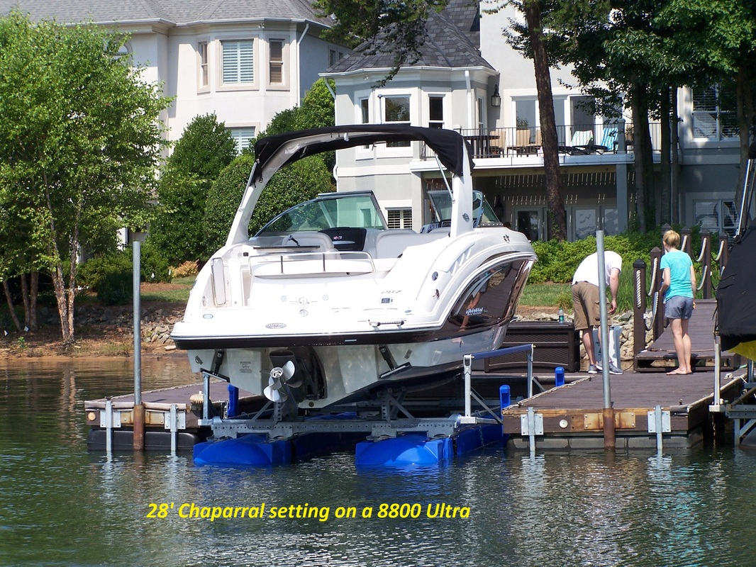 8800 Ultra setting under a 28' Chaparral - Lake Norman. NC