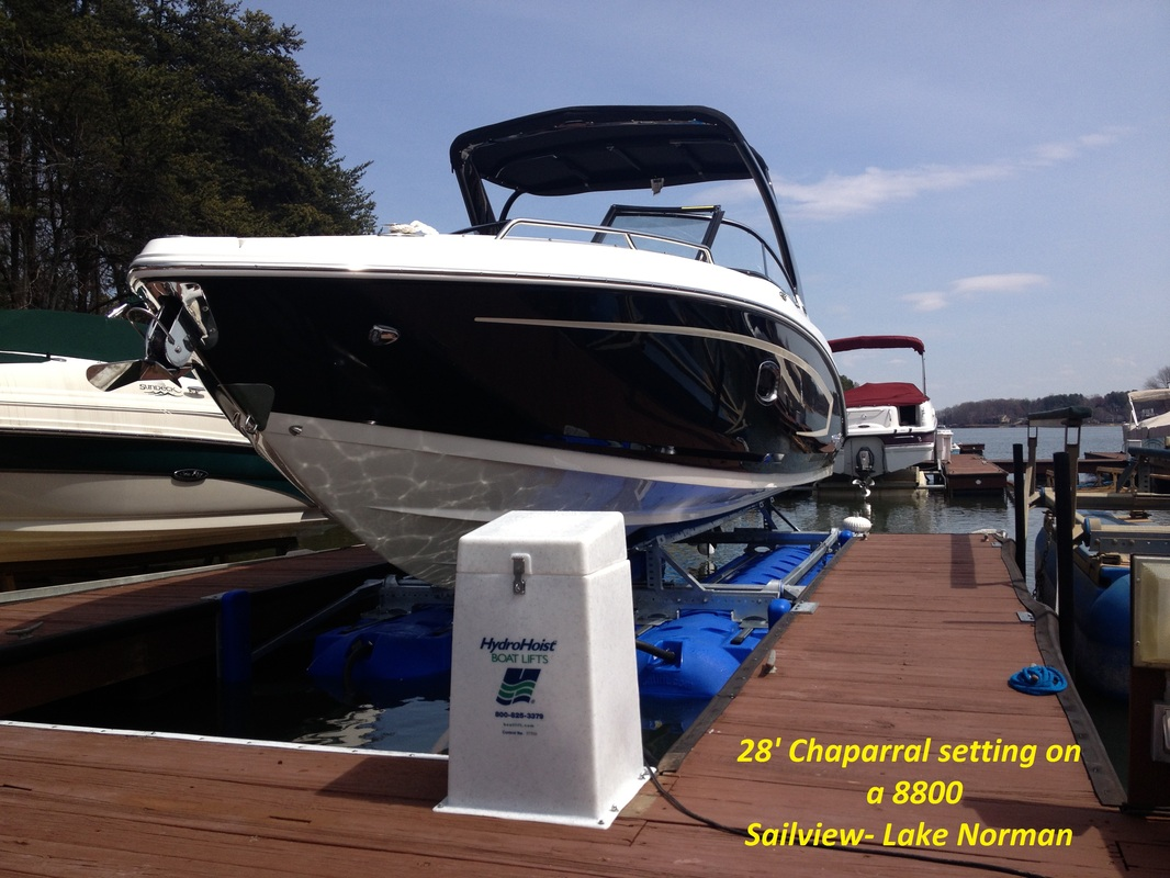 8800 Ultra setting under a 28' Chaparral - Lake Norman, NC