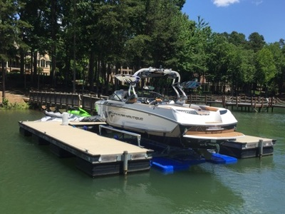 7500 US under a 24' Super Air Nautique - Lake Norman, NC